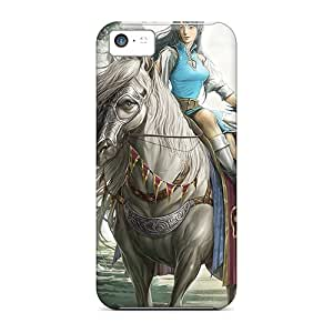 First-class Cases Covers For Iphone 5c Dual Protection Covers Girl Rider