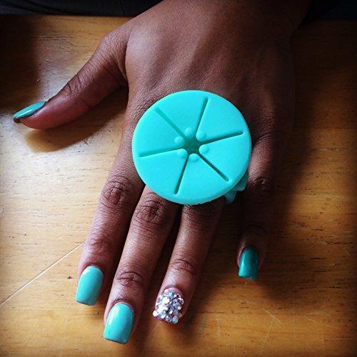 tweexy The Original Wearable Nail Polish Holder, Spa Green