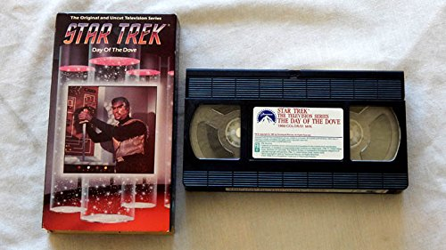 Star Trek Original Series Episode 66 Day Of The Dove VHS Tape Edition - Paramount Pictures 1993 - A Used Play-Screened VHS Program graded 9.2 By The Seller - Oiginal 1968 Version - William Shatner - Leonard Nimoy