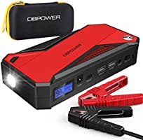 DBPOWER 800A 18000mAh Portable Car Jump Starter (up to 7.2L Gas, 5.5L Diesel Engine) Battery Booster with Smart Charging...