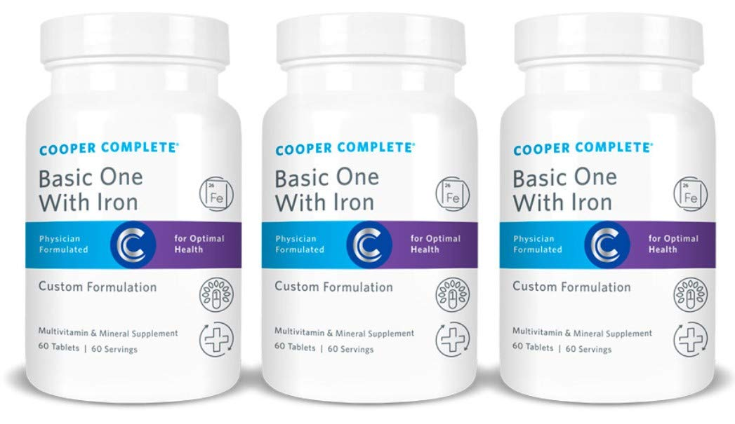 Cooper Complete – Basic One Multivitamin with Iron – Daily Multivitamin and Mineral Supplement with Iron – 180 Day Supply