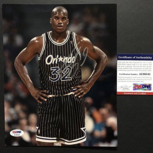 Autographed/Signed Shaq Shaquille O'Neal Orlando Magic 8x10 Basketball Photo PSA/DNA COA (Autographed Basketball Photo Signed)