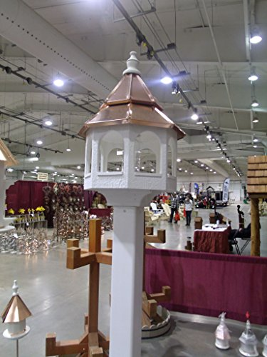 Shiny Copper Roof - Bird FEEDER with double copper top Amish Made in USA X-Large 30 inches TALL