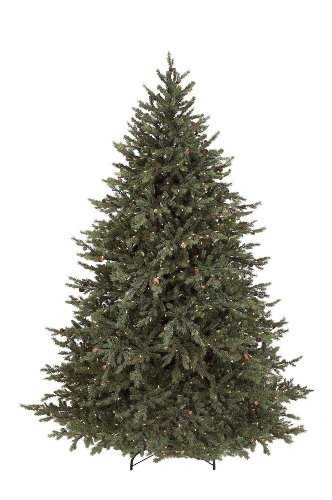GKI Bethlehem Lighting Pre-Lit 6-1/2-Foot PE/PVC Christmas Tree with 600 Clear Mini  , Hunter Fir