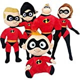 YODE 20-25cm Plush Stuffed Doll Toys Mr. Incredible Family Helen Jack Bob Parr Plush Toys for Children - 5Pcs/Set