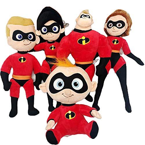 YODE 20-25cm Plush Stuffed Doll Toys Mr. Incredible Family Helen Jack Bob Parr Plush Toys for Children - -