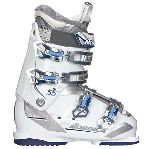Nordica Cruise 55 W Womens Ski Boots 2018 22.5/White Blue