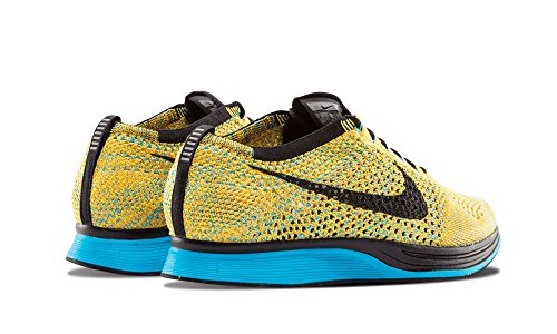 "Nike Flyknit Racer ""Sherbet – Bright Citrus/Blue Lagoon/Laser Orange/Schwarz 7 UK"