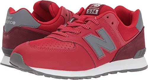 info for b4b6b cd375 New Balance Kids' 574 Serpent Luxe Sneakers,Red/Black,6.5 Medium US