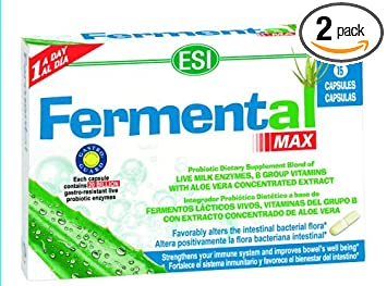 ESI Fermental Max, Probiotic Caplets, 15 Caplets (Pack of 2)