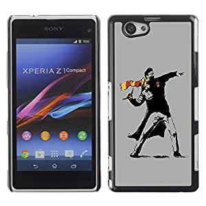 LECELL -- Funda protectora / Cubierta / Piel For Sony Xperia Z1 Compact D5503 -- Street Art Rebel --