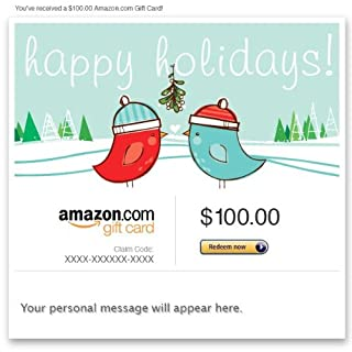 Amazon Gift Card - Email - Happy Holidays (Kissing Birds) (B004LLILPK)   Amazon price tracker / tracking, Amazon price history charts, Amazon price watches, Amazon price drop alerts