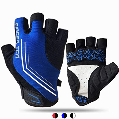 Gel Padded Breathable Shock Absorbing Cycle Glove for Motorcycle MTB Outdoor Sports Cycling Gloves Men Half Finger Anti Slip Rode Bicycle Bike Mountain Biking Pair
