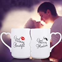 BonZeaL Beautiful Adorable Birthday Valentine New Year Wedding Gift Ceramic Drinking Couple Family Coffee Mugs