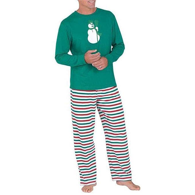 Moberlin Familia de Coincidencia de Patrones de Navidad Pijamas Set - Hombres Mujer Chico Niña Niños Bebé Xmas PJs Sleepwear Ropa de Dormir Manga Larga ...