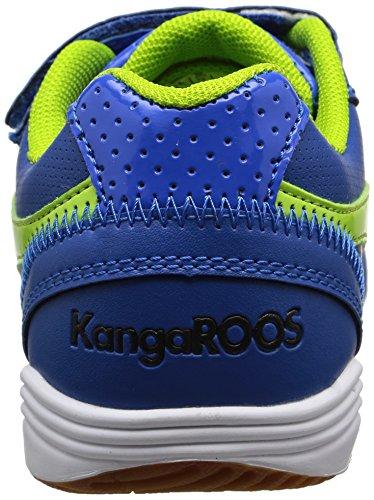 KangaROOS Power Court - Zapatillas de deporte Unisex Niños Bleu (Royal Blue/Lime 484)