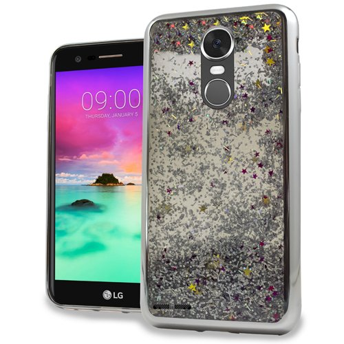 LG Stylo 3 Stylus 3 Stylo 3 Plus Luxury Sparkling CHROME Glitter Motion Case for Boost Mobile / MetroPCS / Sprint / T-mobile (Pcs Phone Cases Motion Metro Lg)