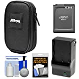 nikon 8000 camera - Nikon Coolpix Nylon Digital Camera Carrying Case with EN-EL12 Battery & Charger + Accessory Kit for AW120, AW130, P340, S9900, A900, W300
