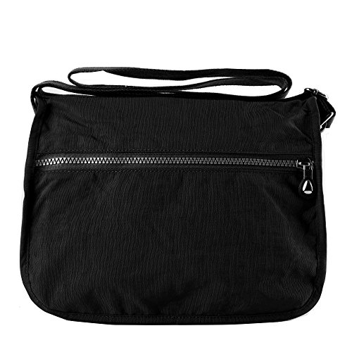 varios viaje Bolso de estilo nailon bandolera mano bolso Mujer negro mensajero de Casual para estilo de de bolsillos con TT84p