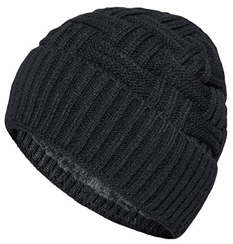Loritta 1-2 Pack Winter Hat Warm Knitted Wool Thick Baggy Slouchy Beanie Skull Cap for Men Women Gifts 4