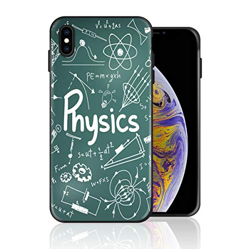 Silicone Case for iPhone 6s Plus and iPhone 6 Plus, Physics Physical Formula and Graph Design Printed Phone Case Full Body Protection Shockproof Anti-Scratch Drop Protection Cover -