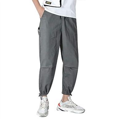 MOVERV Pantalones de Yoga Sueltos Harén Hombre, Algodón y ...