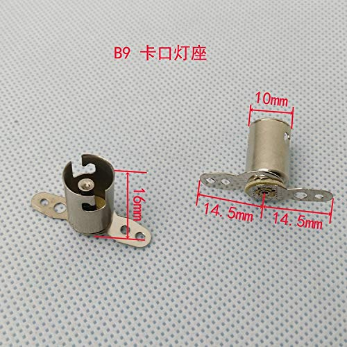 FINCOS B9 Bayonet lamp Holder, Silver Plated Nickel lamp Holder, BA9S Indicator for Machine Tool and Instrument.