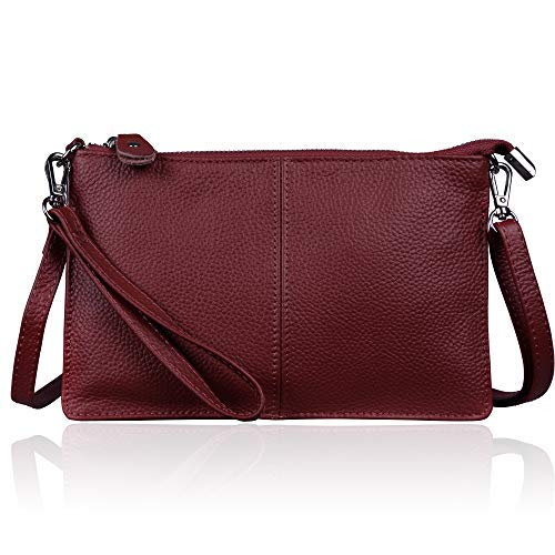 Price comparison product image Befen Women's Smartphone Leather Wristlet Crossbody Wallet Clutch with Crossbody Strap / Wrist Strap - Fit iPhone 8 Plus - Jester Red