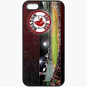 Personalized iPhone 5 5S Cell phone Case/Cover Skin 15104 Boston Red Sox by crazydi4mond Black