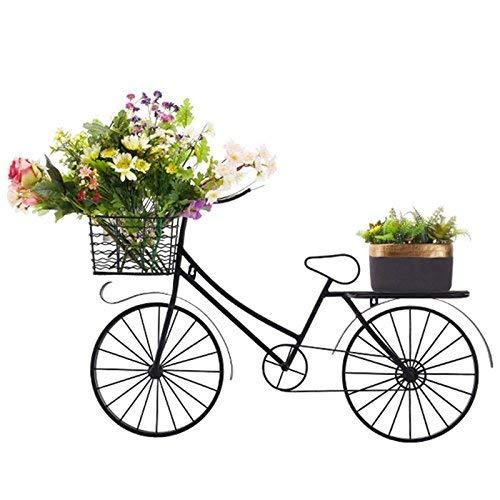Fahrrad-Art-Blumen-Korb u. An der Wand befestigter Blumen-Stand, Schmiedeeisen benutzt, um Innen- und im Freien Wohnzimmer-Balkon-Topfpflanze-Präsentationsständer zu verzieren ( größe : 93*60cm )