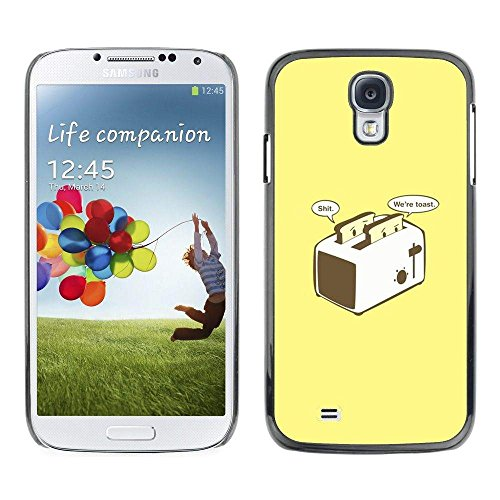 GRECELL CITY GIFT PHONE CASE /// Cellphone Protective Case Hard PC Slim Shell Cover Case for Samsung Galaxy S4 /// Toast Toaster Yellow Poster Funny