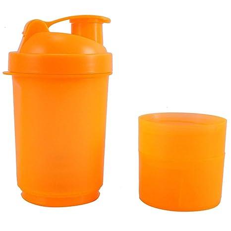 WeRui Botella batidora de proteínas, Botella de Agua Deportiva, Vasos mezcladores para Gimnasio,
