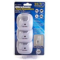 3 Pack Bell + Howell Ultrasonic Pest Repellers With Dust-To-Dawn Sensor Light