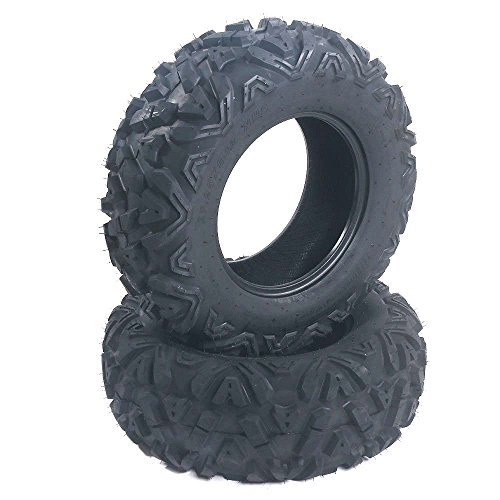 MOTOOS 12 Inch ATV Tires 6PR Trail Tires 25x8x12 Front Spare Tire Replacement for All Terrain Tires Pack of 2