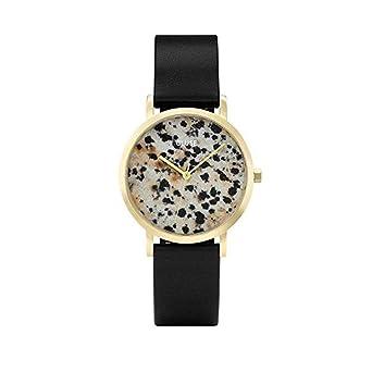 CLUSE La Roche Petite Gold Dalmatian Black CL40105 Womens Watch 33mm Leather Strap Minimalistic Design Casual
