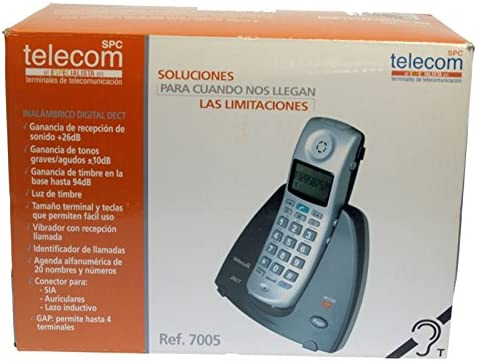 TELECOM-TELEFÓNICA Ref.7005T - Teléfono inalámbrico especial AUDICIÓN.: Amazon.es: Electrónica