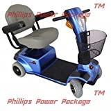 Zip'r Mobility - Breeze - Travel Scooter - 4-Wheel - 18W x 16D Seat - Blue - PHILLIPS POWER PACKAGE TM - TO $500 VALUE