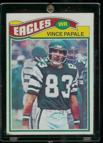 (1977 Topps Vince Papale Philadelphia Eagles Rookie Card - Invincible Movie - Own a Piece of History - Shipped in Protective ScrewDown Case!!)