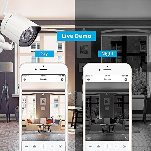 Zmodo 720P HD Smart Wireless Surveillance Camera WiFi Outdoor Security Camera - Cloud Service Available by Zmodo (Image #4)