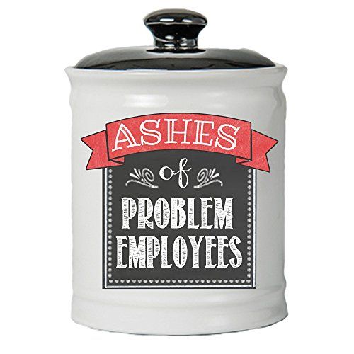Cottage Creek - Ashes of Problem Employees Jar - Funny Boss Birthday Gifts - Money Jar with Lid by Cottage Creek (Image #1)