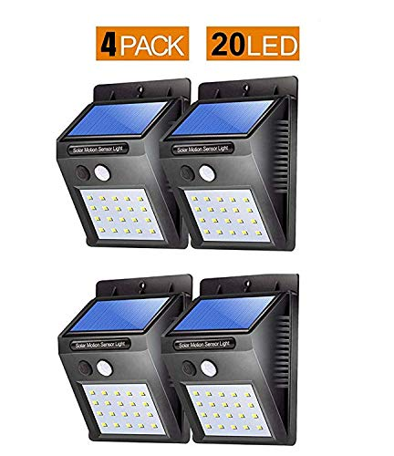 Bigsavings. Light-Solar Powered Cordless Outdoor Led Motion Sensor Path and Security Light – Pack of 4