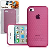 CNL Protective Hexagonal Gel Cover Case Skin for the Apple iPhone 4 / 4S Mobile Phone (Pink)
