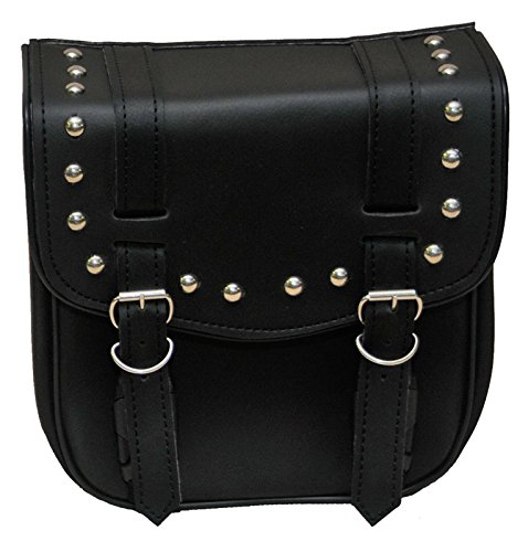 Vance Leather VS305 - Small 2 Strap Studded Sissy Bar Bag - 10'' X 10'' X 5''