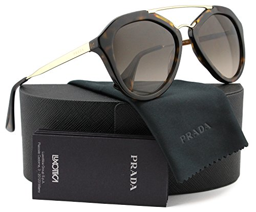 Prada SPR12Q Cinema Sunglasses Brown w/Brown Gradient (2AU-6S1) PR 12QS 2AU6S1 54mm ()