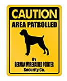 Idakoos - Caution German Wirehaired Pointer Security Co - Dogs - Parking Sign