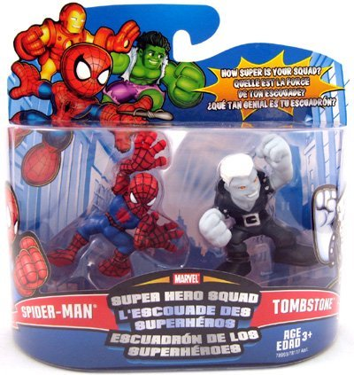- Marvel Superhero Squad Series 12 Mini 3 Inch Figure 2-Pack Spider-Man and Tombstone