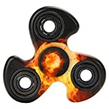 LISTAR Hand Tri-Spinner Fidget Spinner Toy, Camouflage 2 Side Clear Printed, ...
