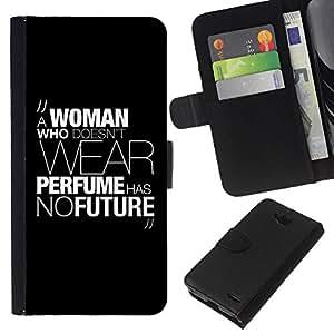 KingStore / Leather Etui en cuir / LG OPTIMUS L90 / Mujer Perfume vestido de la manera de mensaje de texto