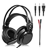 Gaming Headset - Stereo Gaming Headset for PS4, PC, Xbox One ControllerNintendo Switch, VR, Android and iOS LED Lights & Noise-canceling Microphone