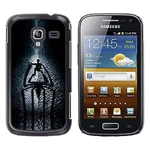 TopCaseStore / la caja del caucho duro de la cubierta de protección de la piel - Spider Shadow - Samsung Galaxy Ace 2 I8160 Ace II X S7560M
